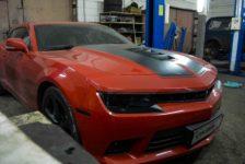 Плановое ТО и замена колодок Chevrolet Camaro