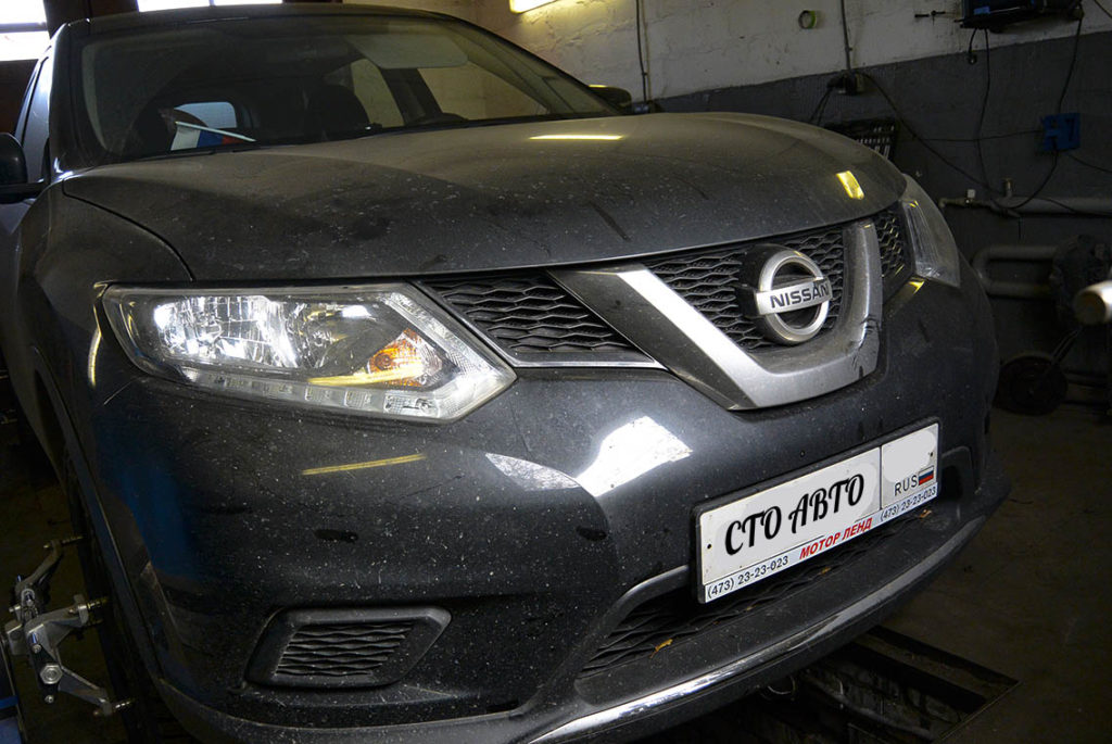 Шиномонтаж и развал-схождение Nissan X-Trail