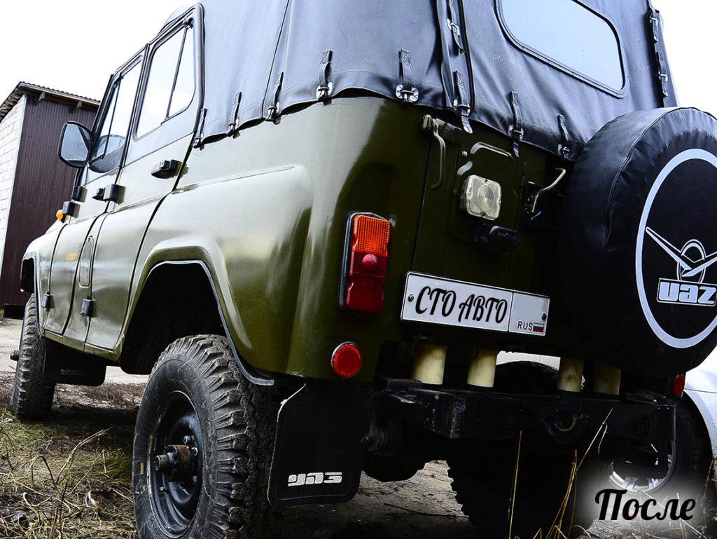 Установка лифт комплекта УАЗ 469